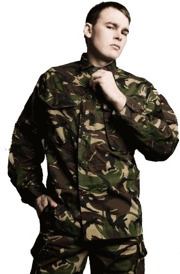 Блуза GB, полевая, woodland. JACKET DPM COMBAT, lightweight