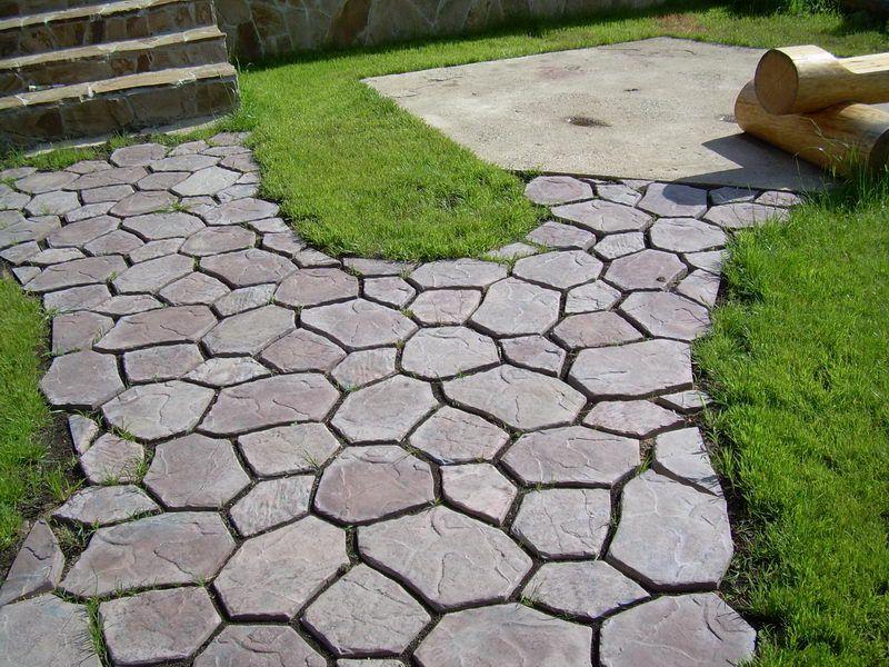 Тротуарная плитка для дачи своими руками фото