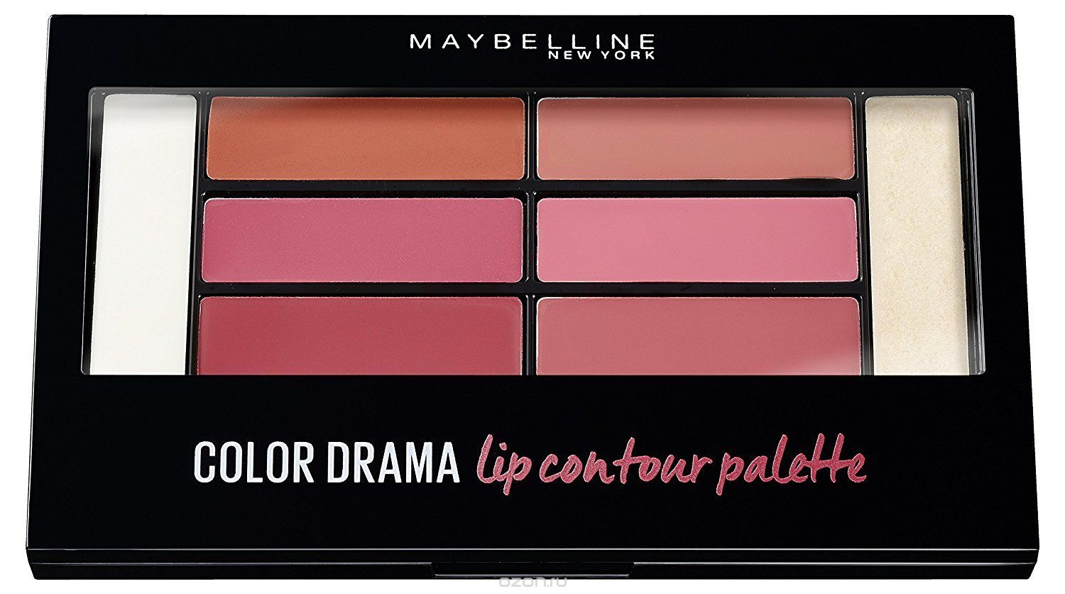 Губная помада Maybelline New York MBL Color Drama 4г Lip Contour Palette Blushed, нюдово-розовый